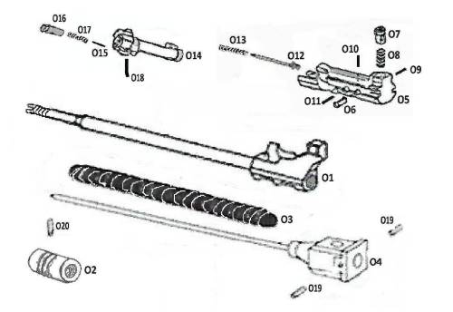 M249/MK46 OPERATING COMPONENTS GROUP