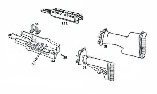 M249/MK46 STOCKS, HANDGUARDS & RAILS